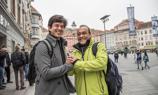 Daniel Erazo und Leonel Monzón und ihr Graz © Jürgen Fuchs
